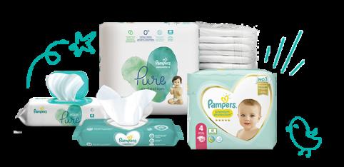 Pampers Windeln und Feuchttücher für Kleinkinder
