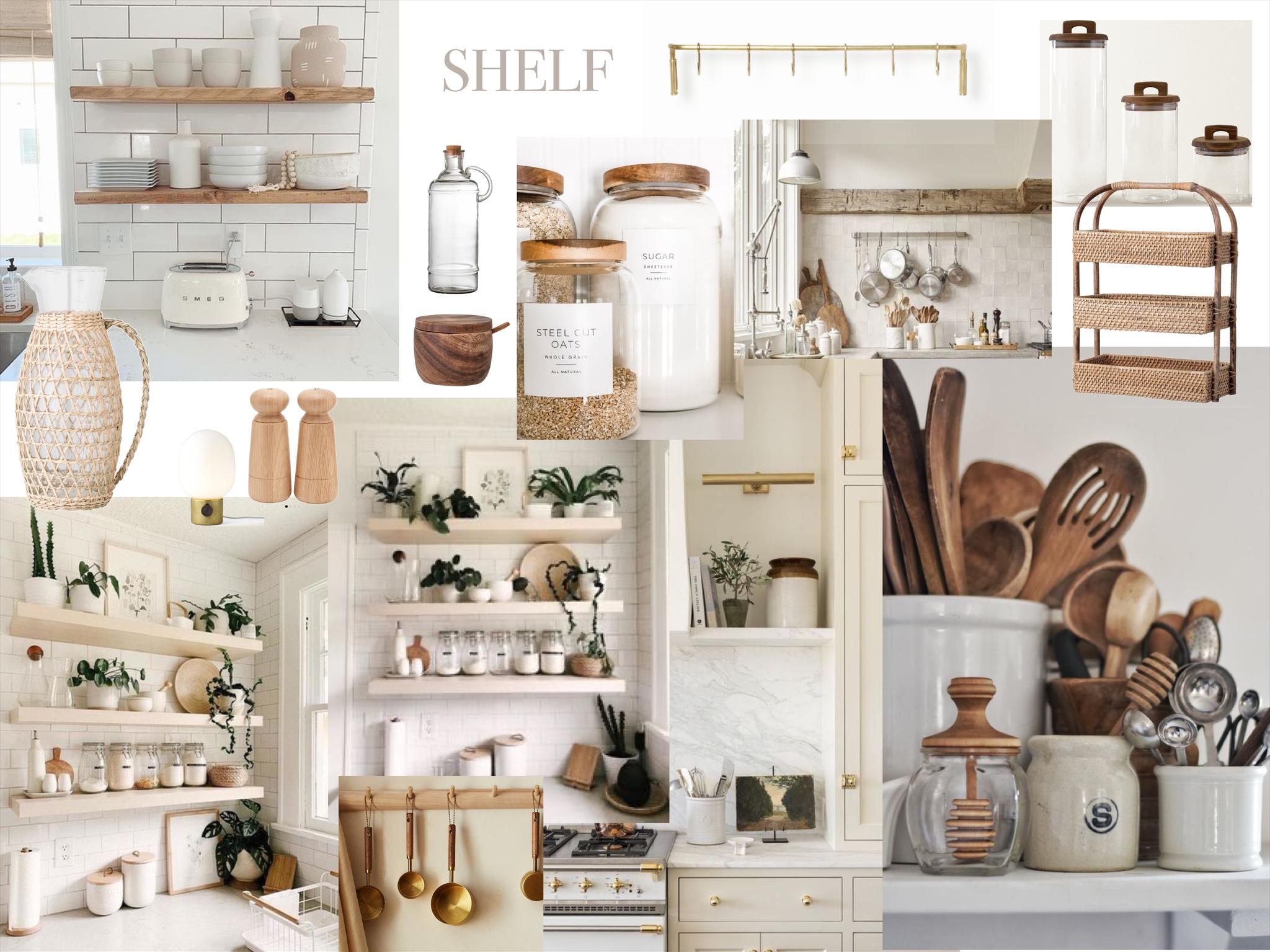Küchen Makeover - Moodboard Shelf