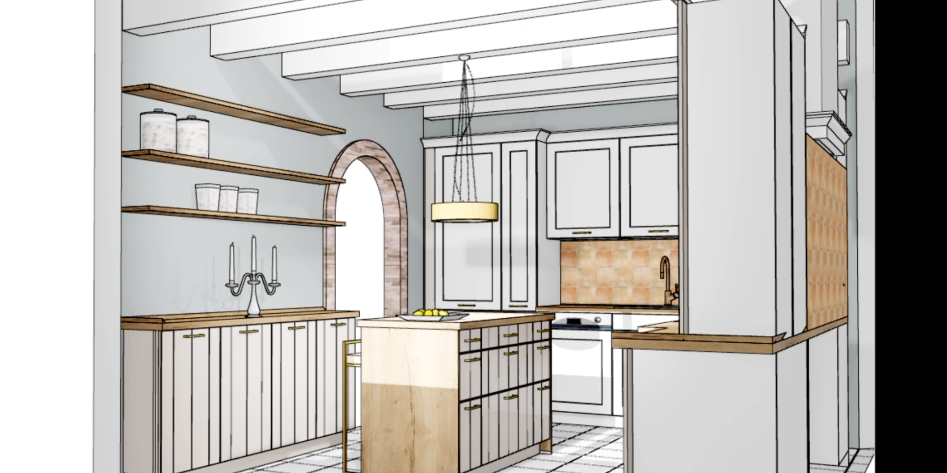 Küchen Makeover - Planung 1