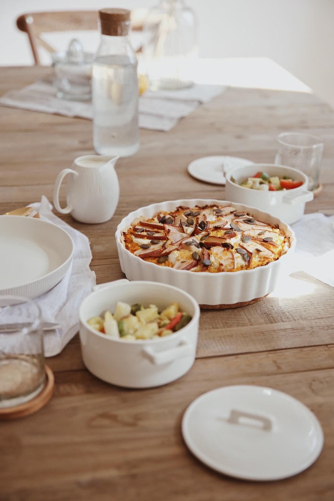 Kürbisquiche mit Ziegenfrischkäse & Birne - 2