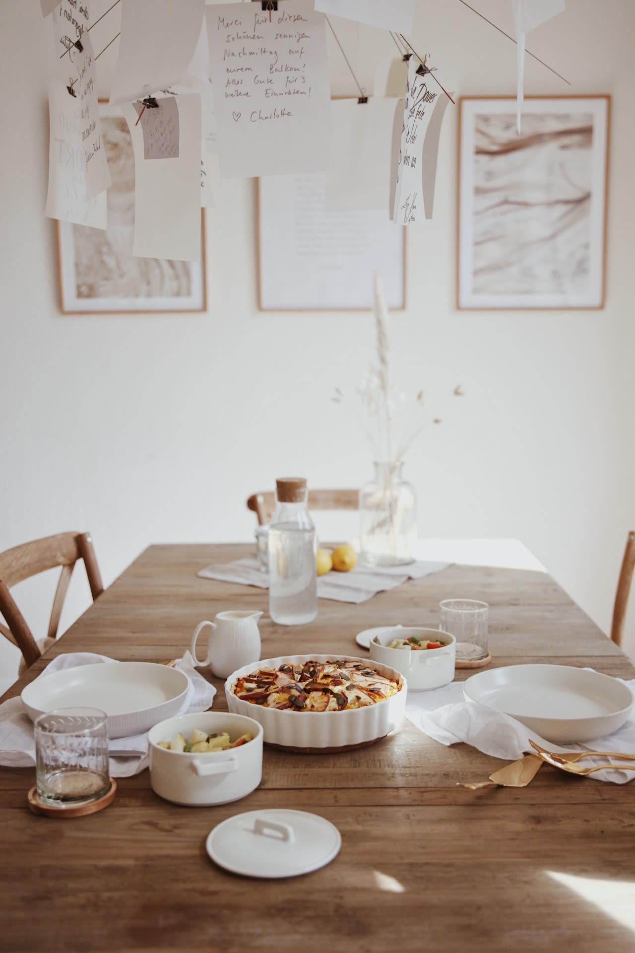 Kürbisquiche mit Ziegenfrischkäse & Birne - 3