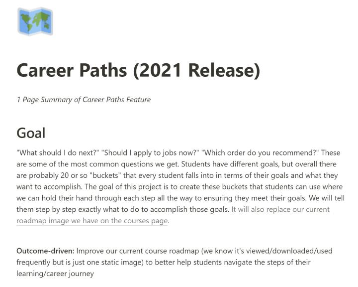 ZTM Career Paths - Notion