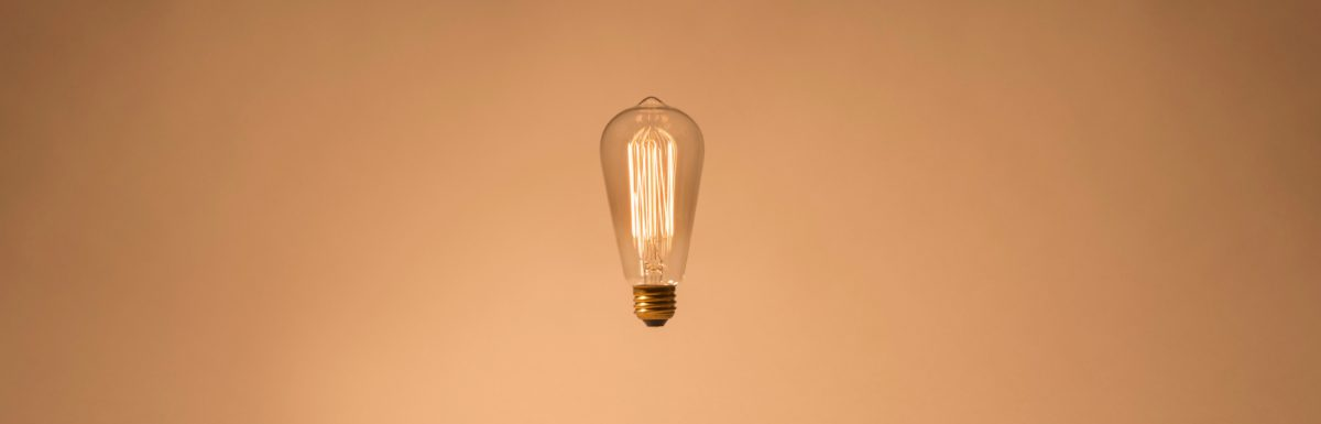 A floating lightbulb