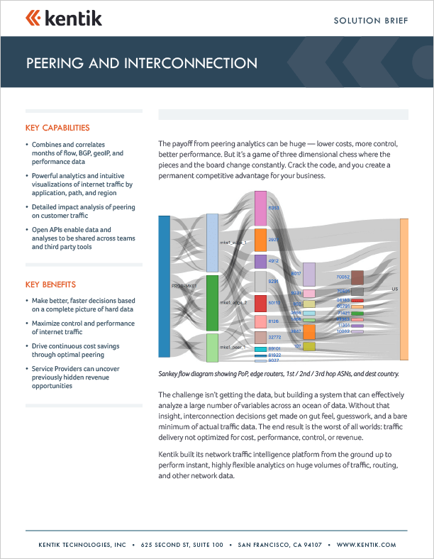 kentik peering interconnection brief-cover