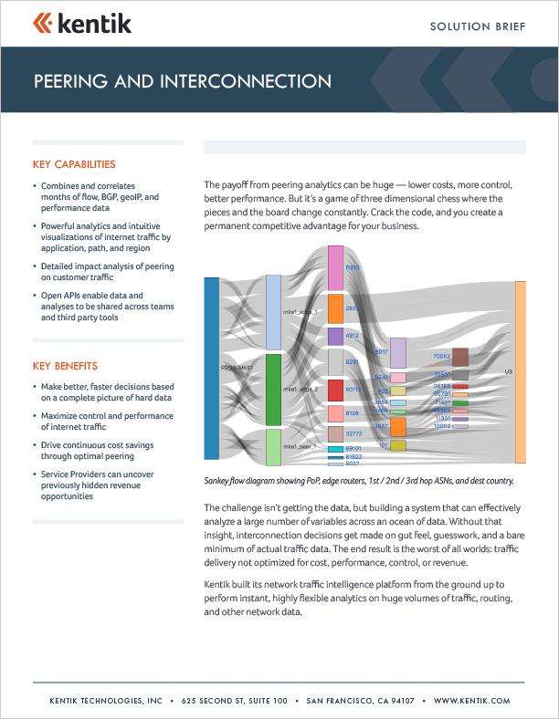 kentik peering interconnection brief-cover