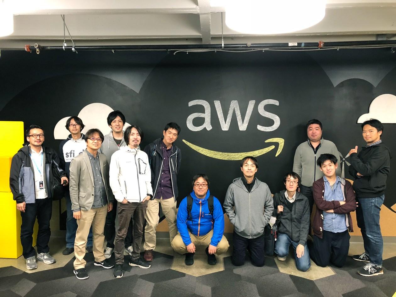 シアトルでのAWS社との技術ディスカッションをレポートの様子