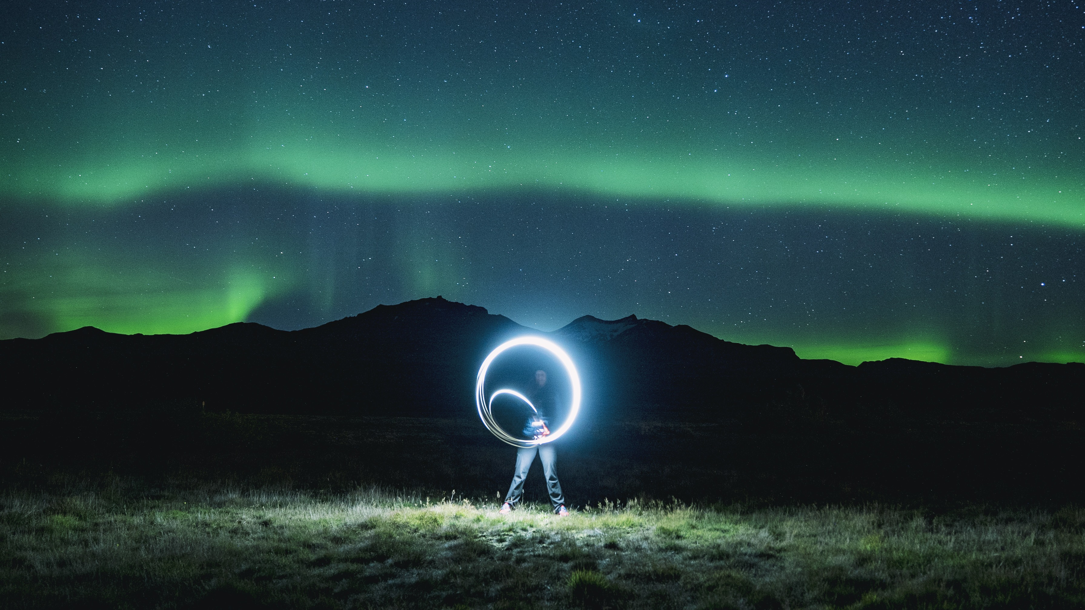 Don't be afraid of the dark - Northern lights