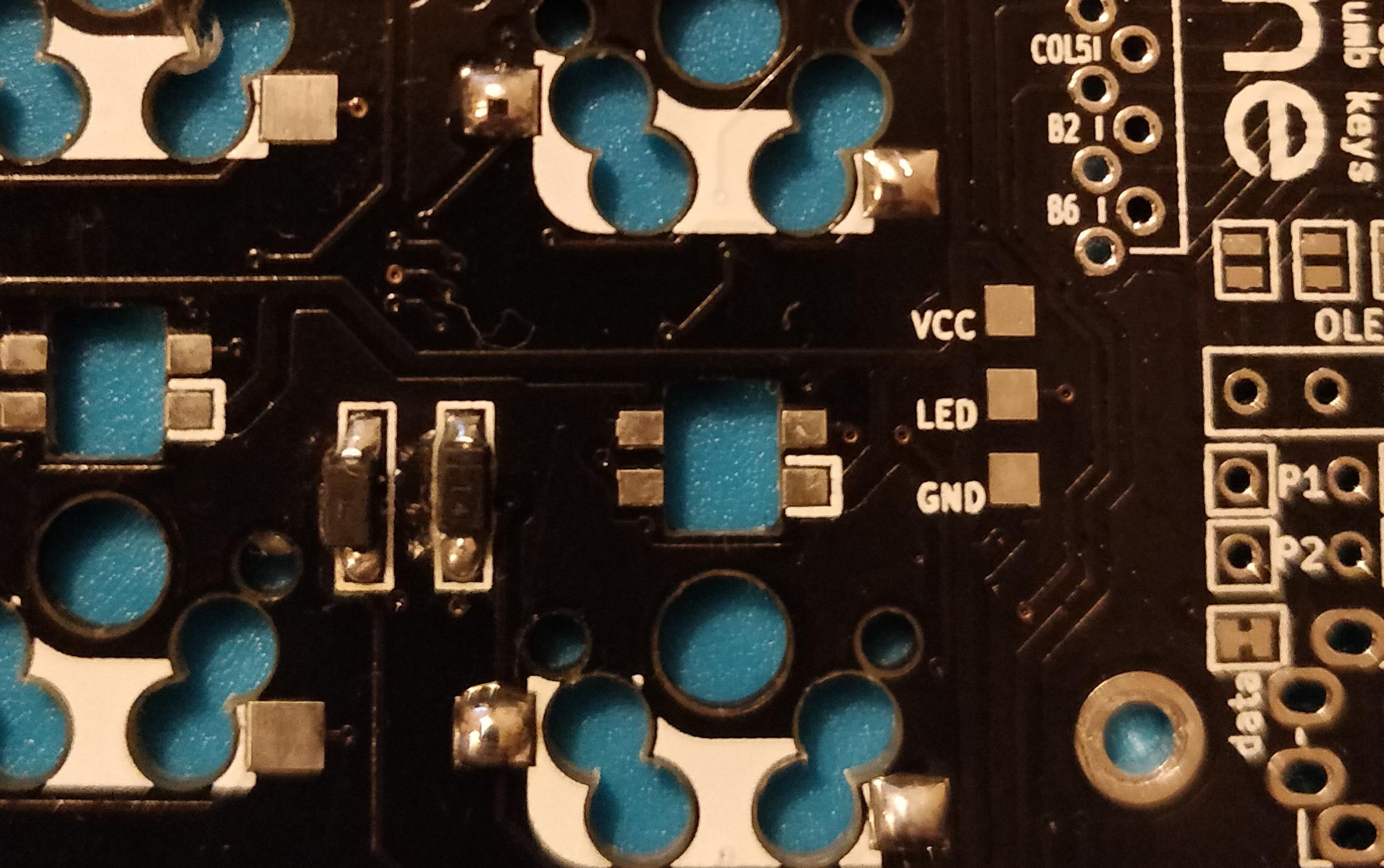 step 3 - corne crkbd - solder hotswap pads
