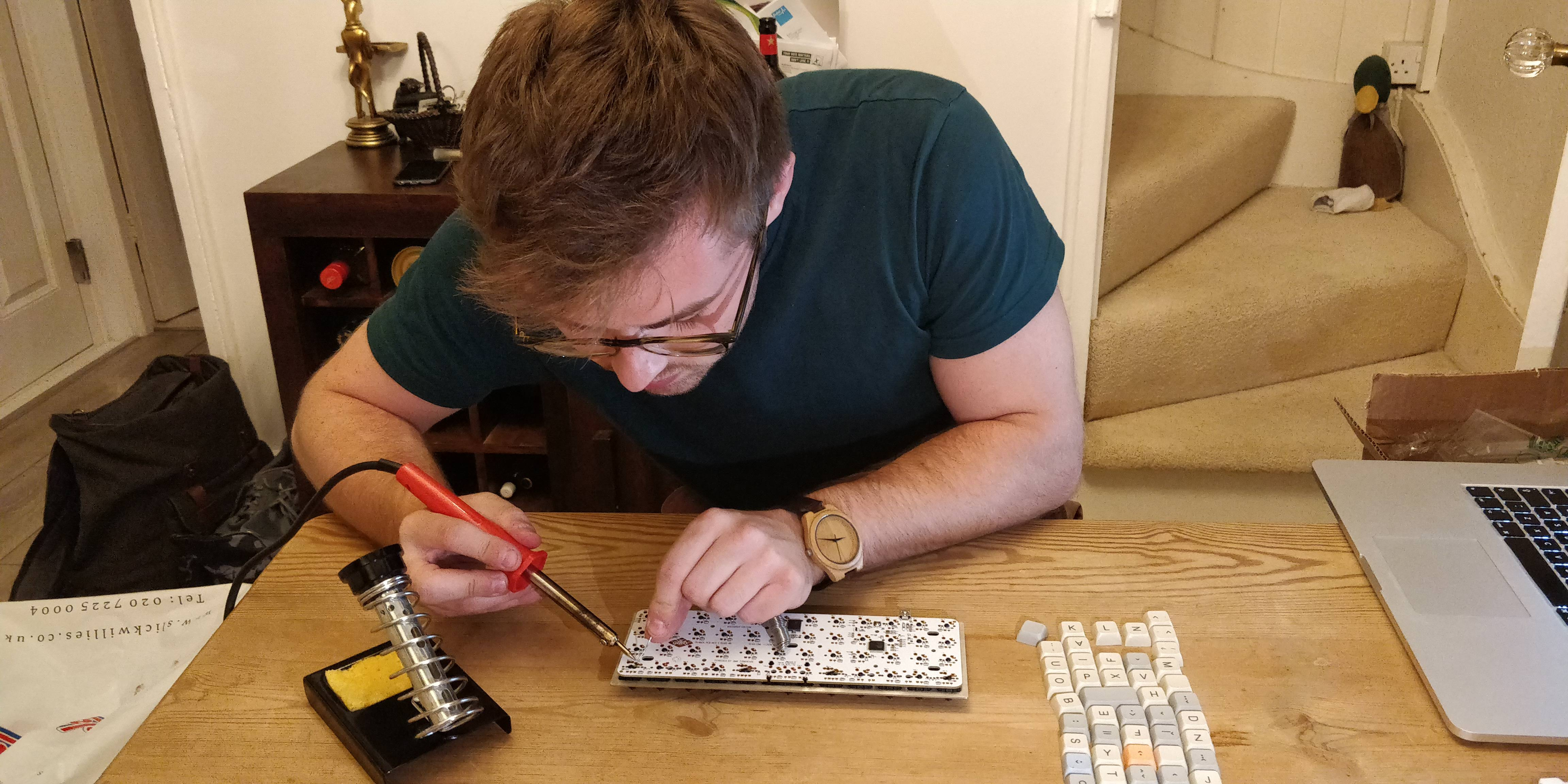 Soldering the switches