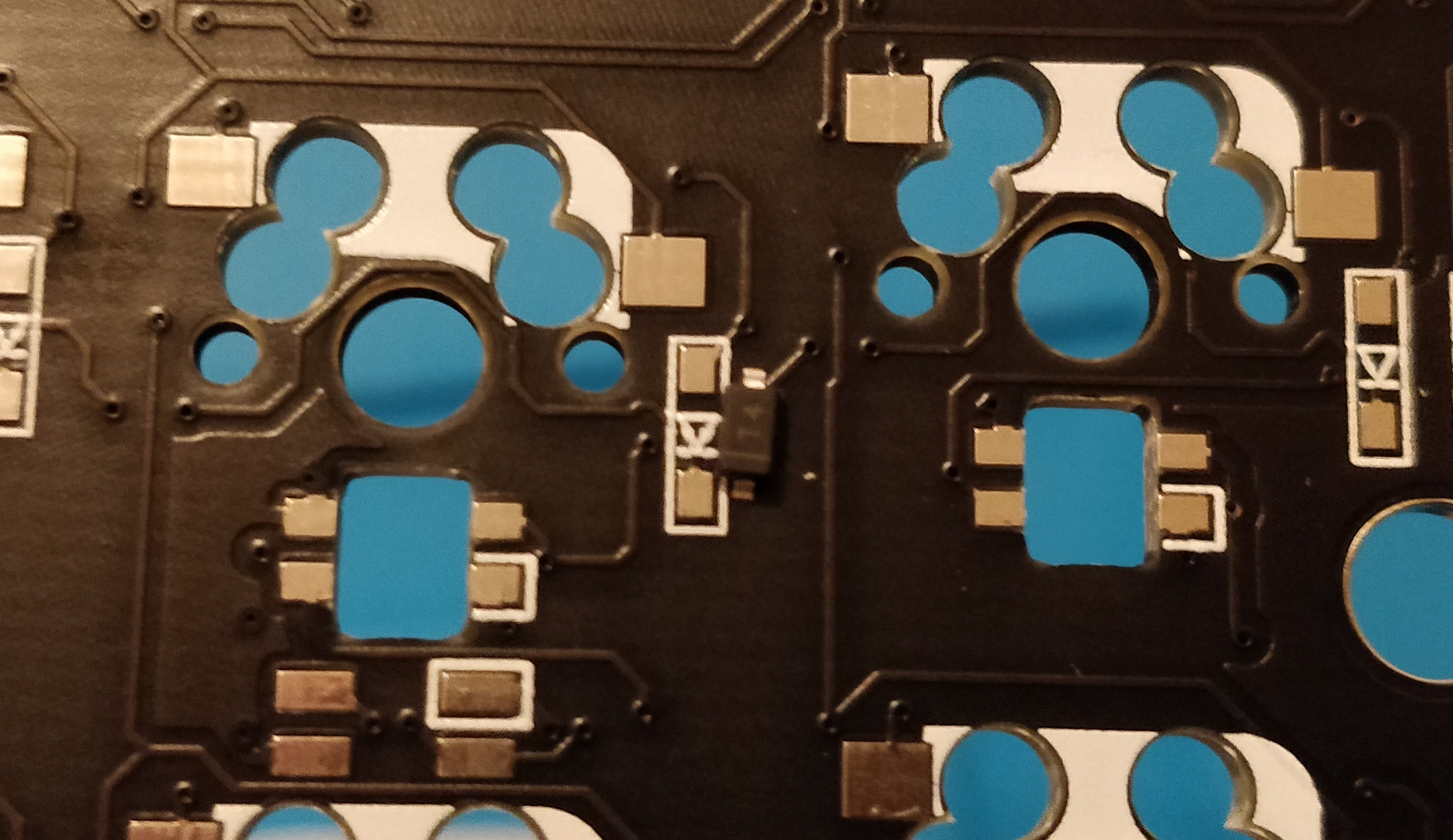 step 1.2 - corne crkbd - diodes zoomed in