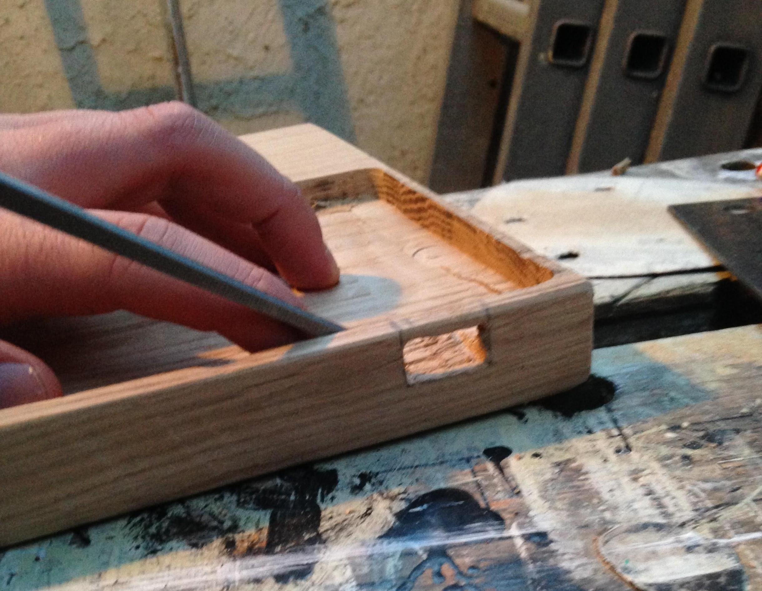 Smoothing out with a chisel