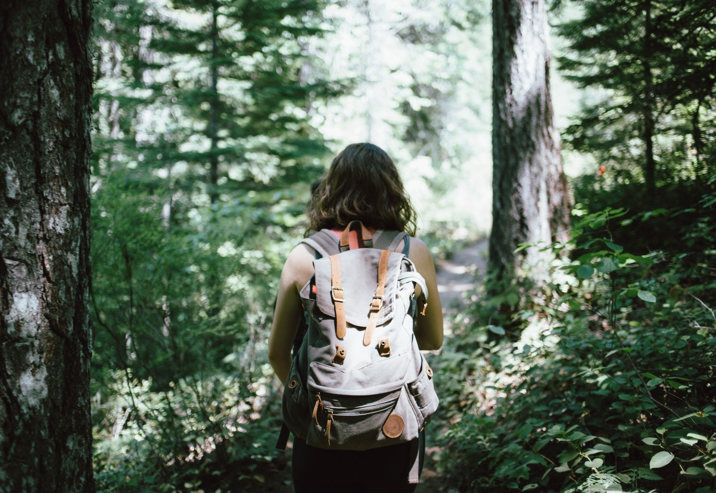 woman-hiking-forest