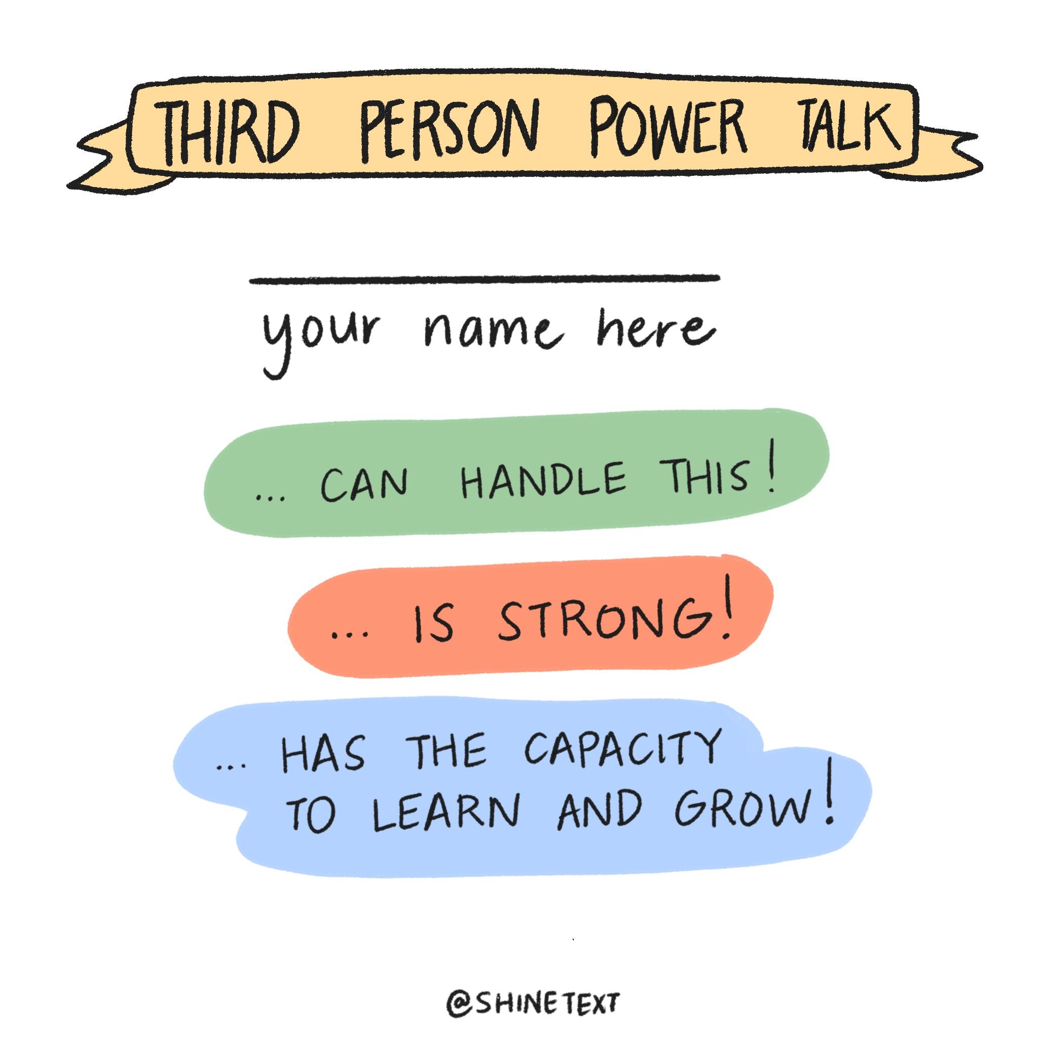 Third Person Power Talk