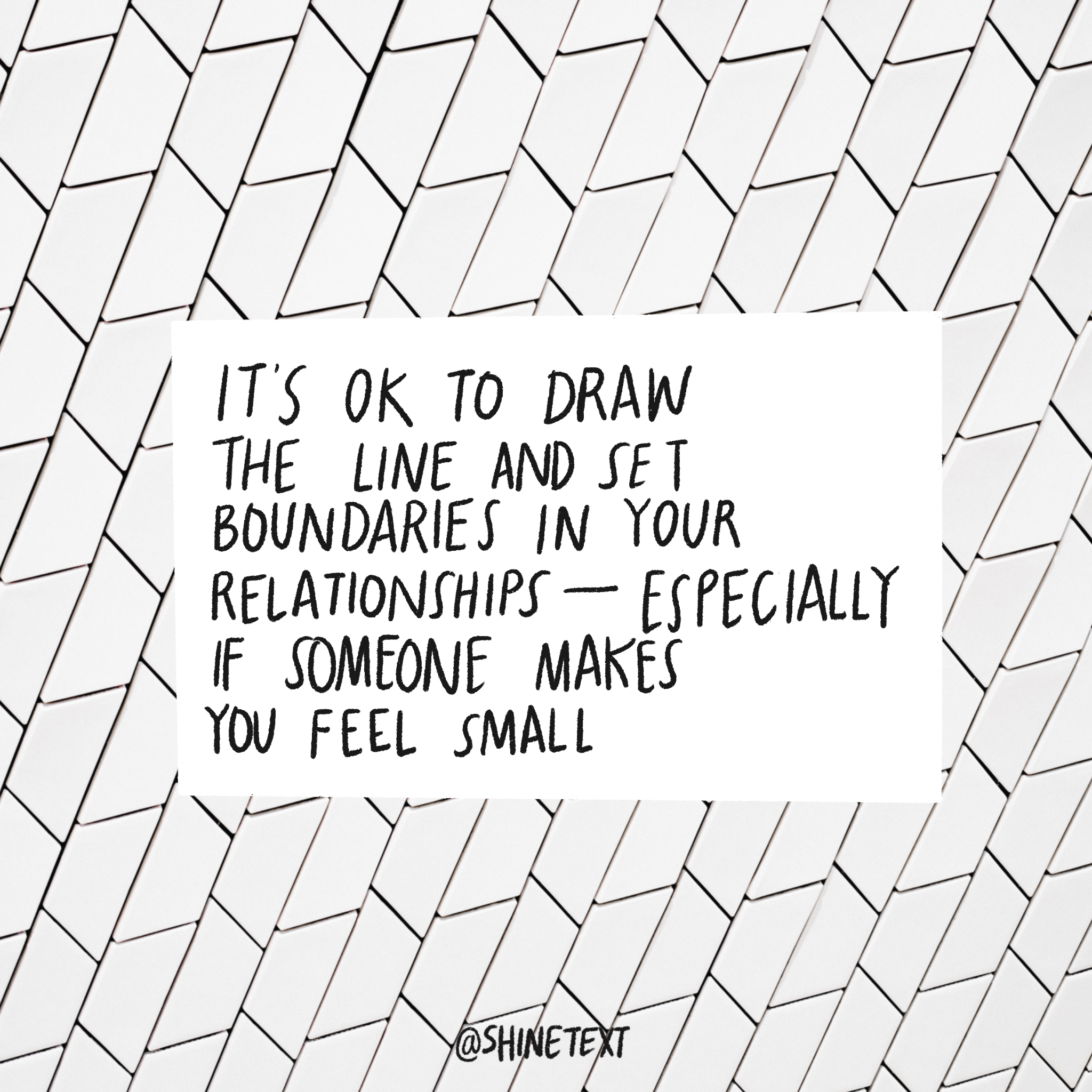 Learn to create Boundaries