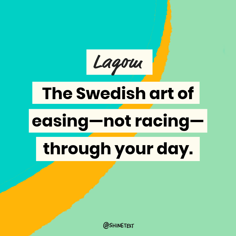 Swedish Lagom