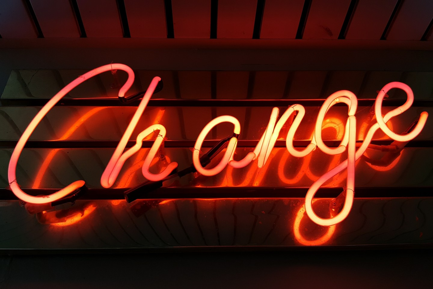 red-change-neon-sign