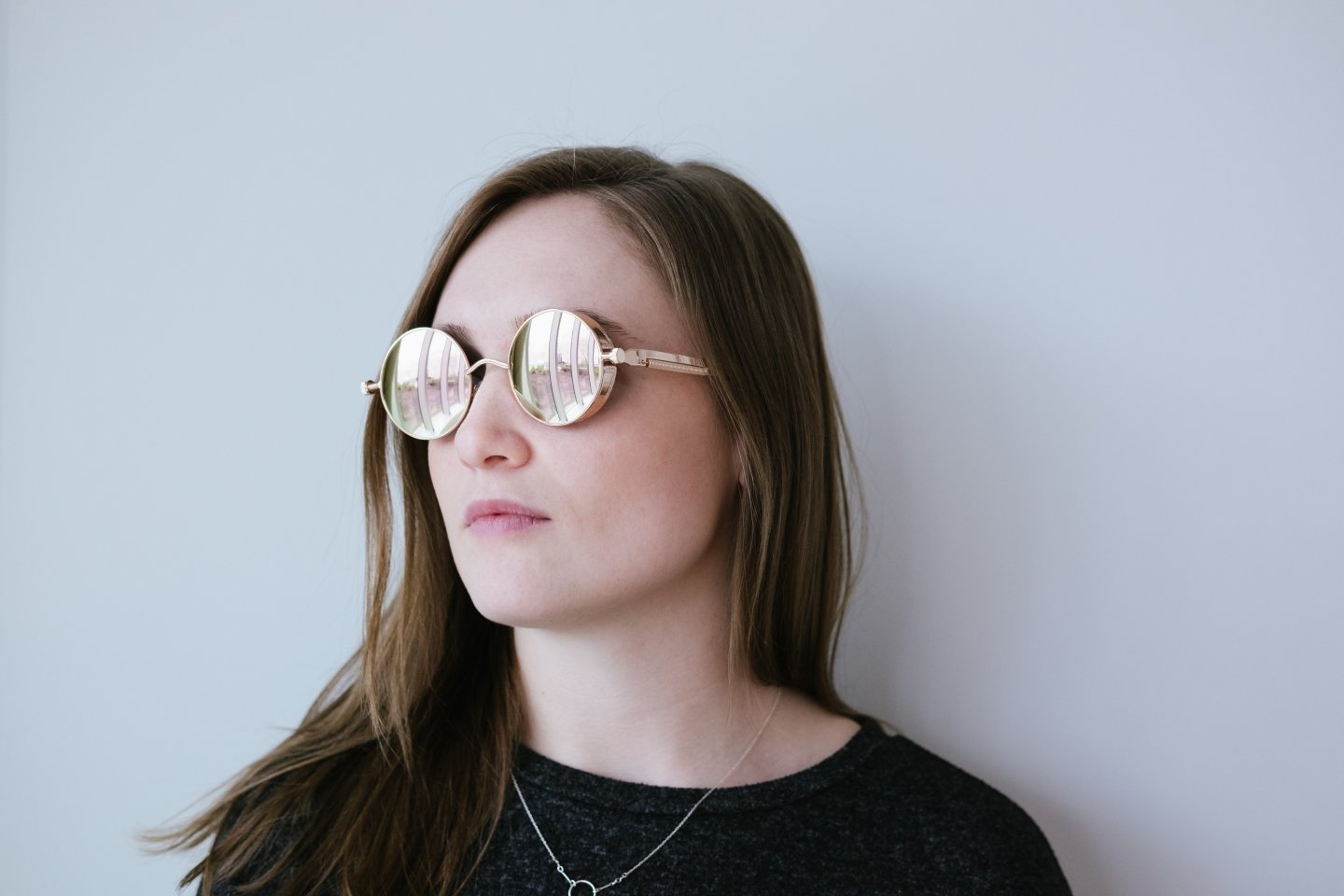 woman sunglasses looking to the side