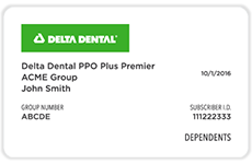 Delta Dental of Minnesota Provider Card 1 - Group