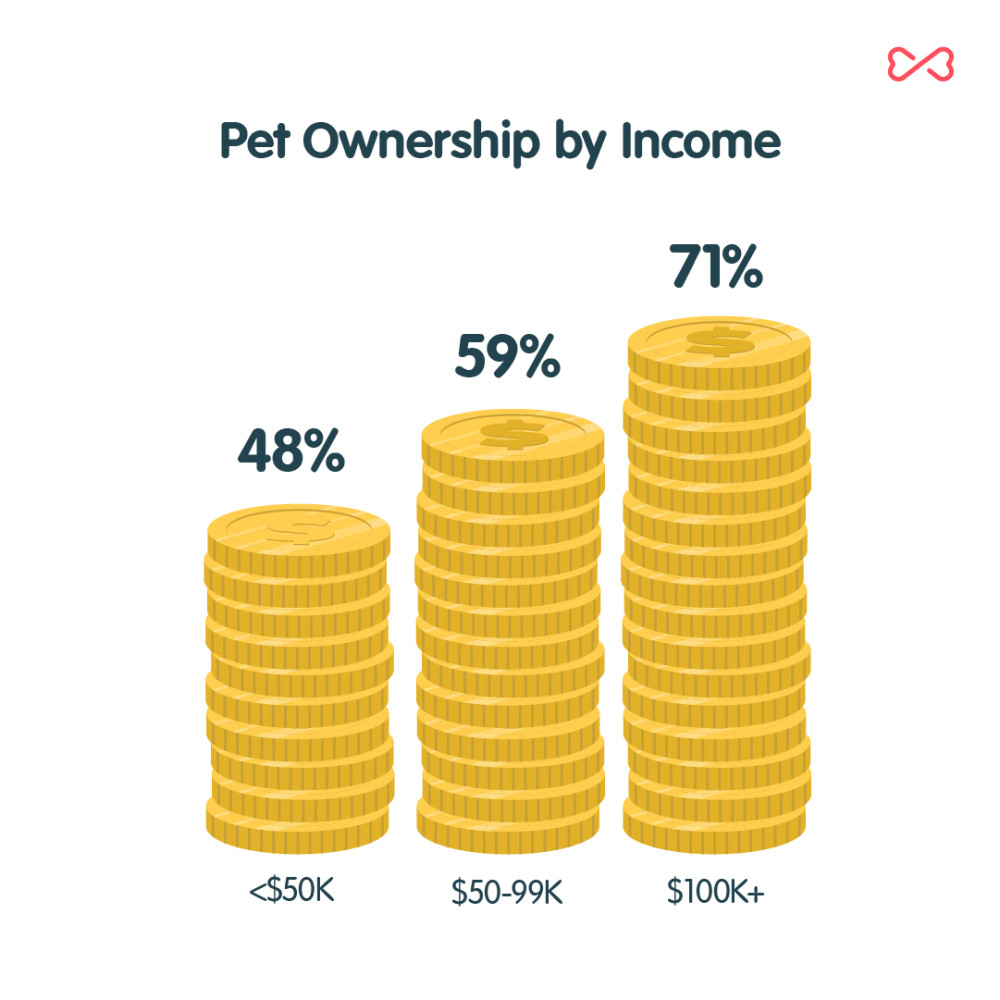 Pet Ownership by Income Chart