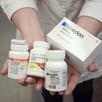 Flera sorters varumärken med paracetamol