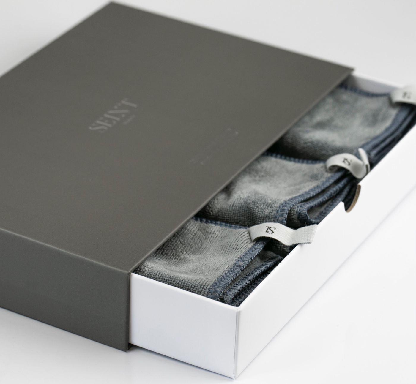 MicroFiber Cloths - Set Grey