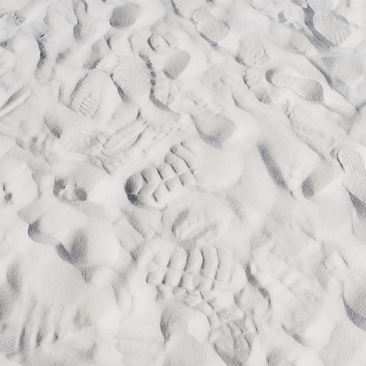 photograph of footprints