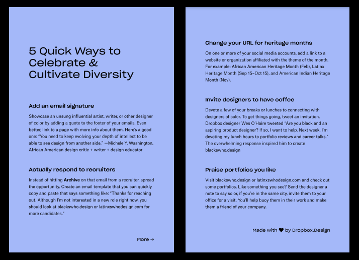 Front and back of downloadable 3D quick tips by Wes O'Haire and Roxanna Aliaga.