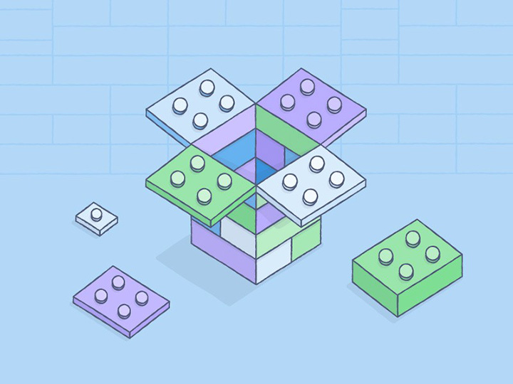 Illustration about building on top of Dropbox by Zach Graham
