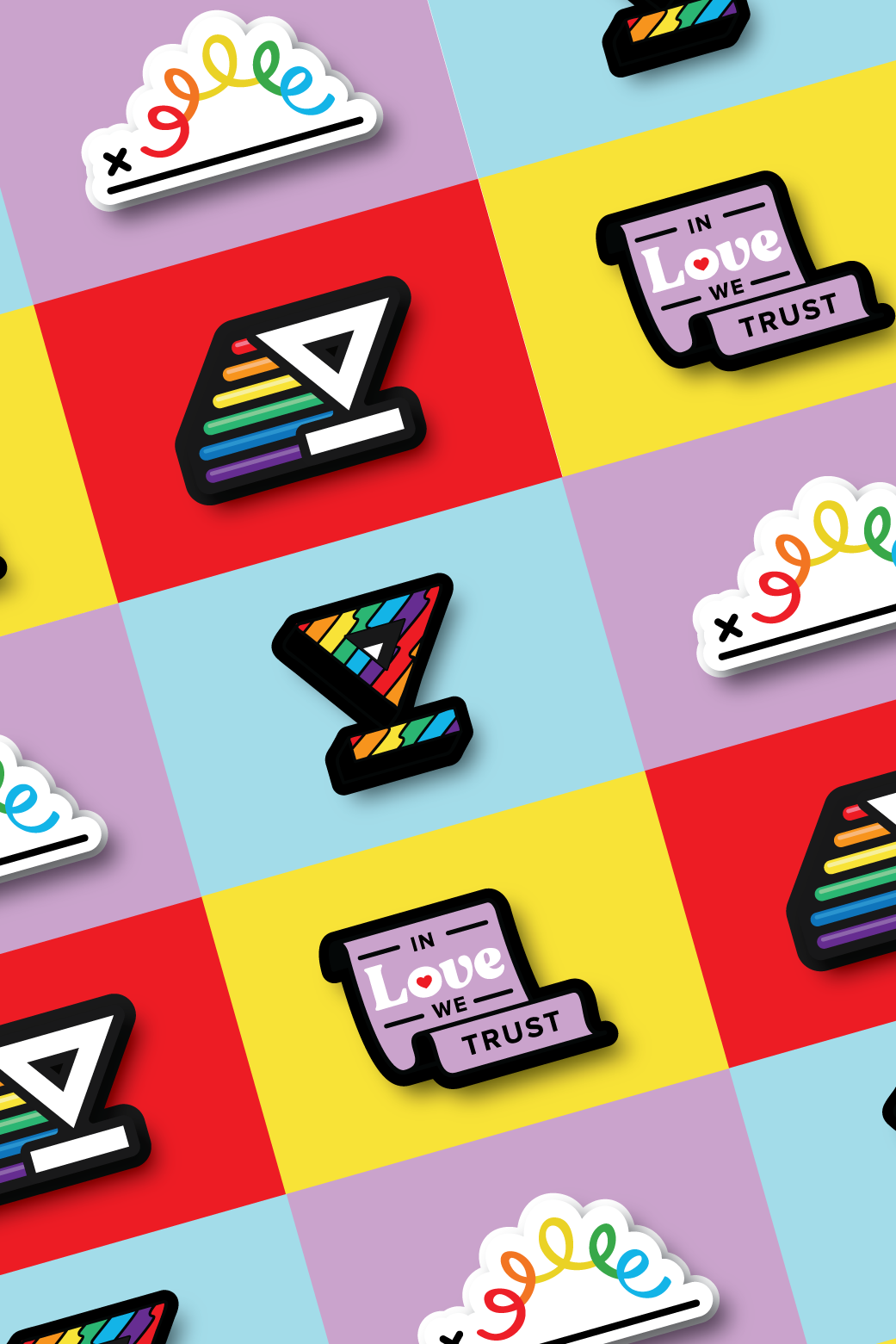 Pride stickers by Berenice Mendez