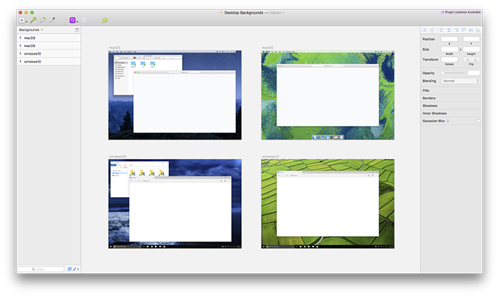 A Sketch template to make it easy to simulate desktop environments.