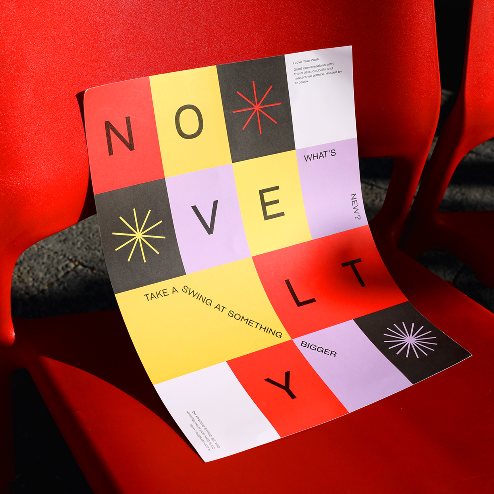 I Love Your Work: On Novelty