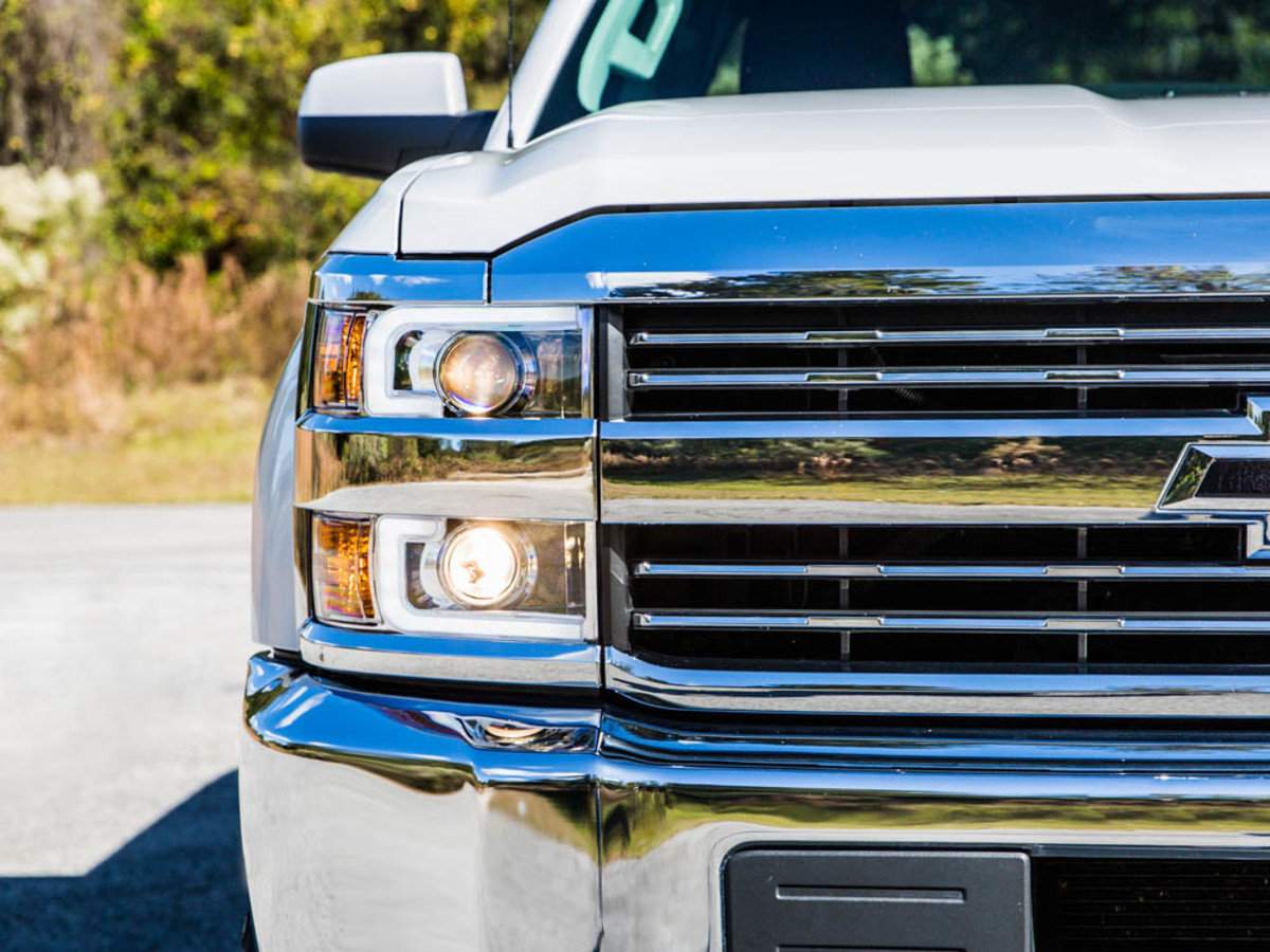 2015 Silverado 2500 W Fabtech Lift Kits On 20x9 Wheels Chevy 2500hd Grille Anzo Chrome Switchback Projector Headlights