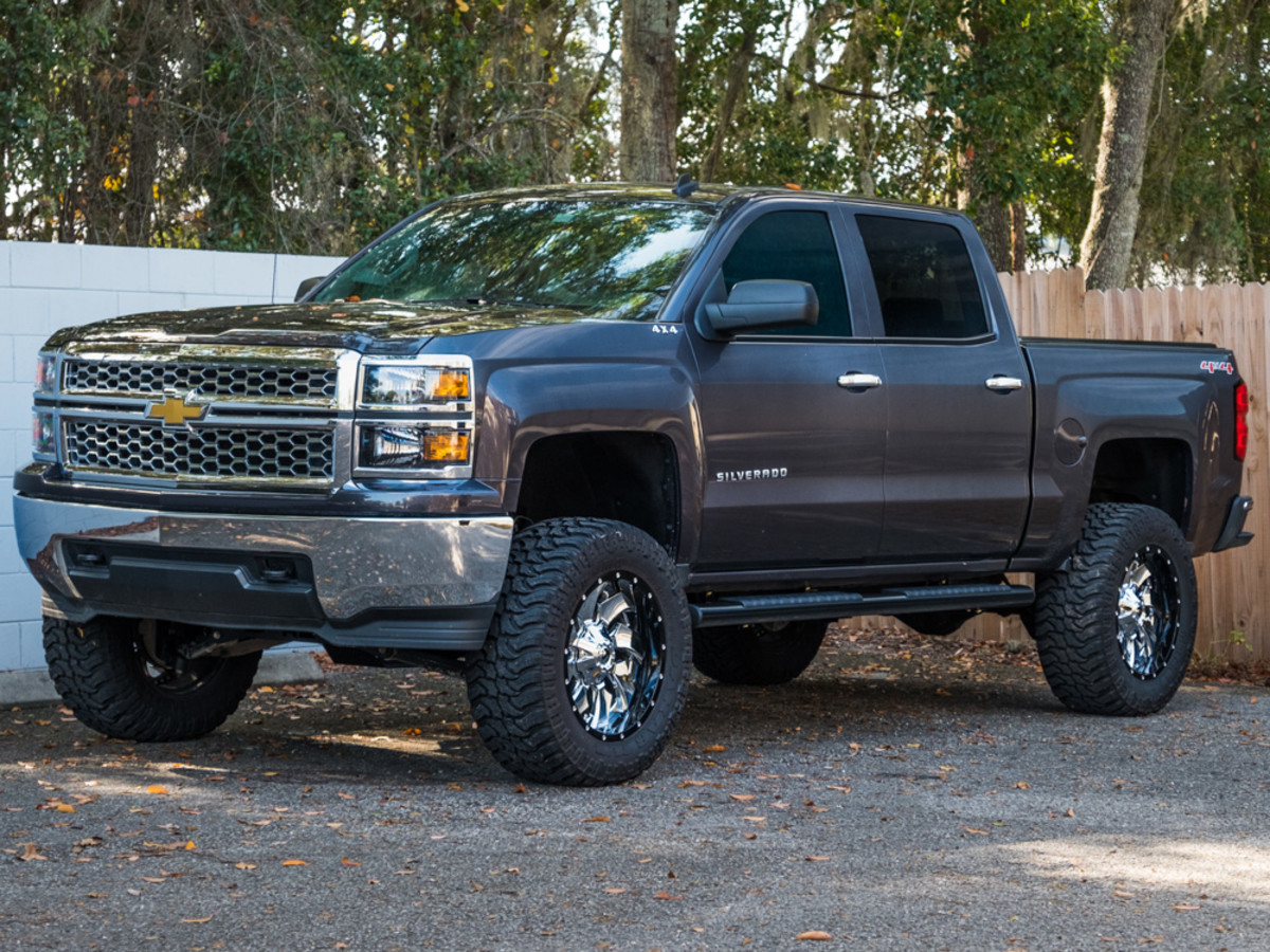 Truck black chevy truck lifted : 2014 Silverado 1500 w/ Rough Country 7.5