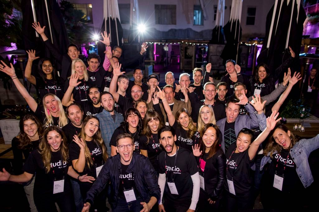 Some of the InVision—and Studio—team at a recent San Francisco event