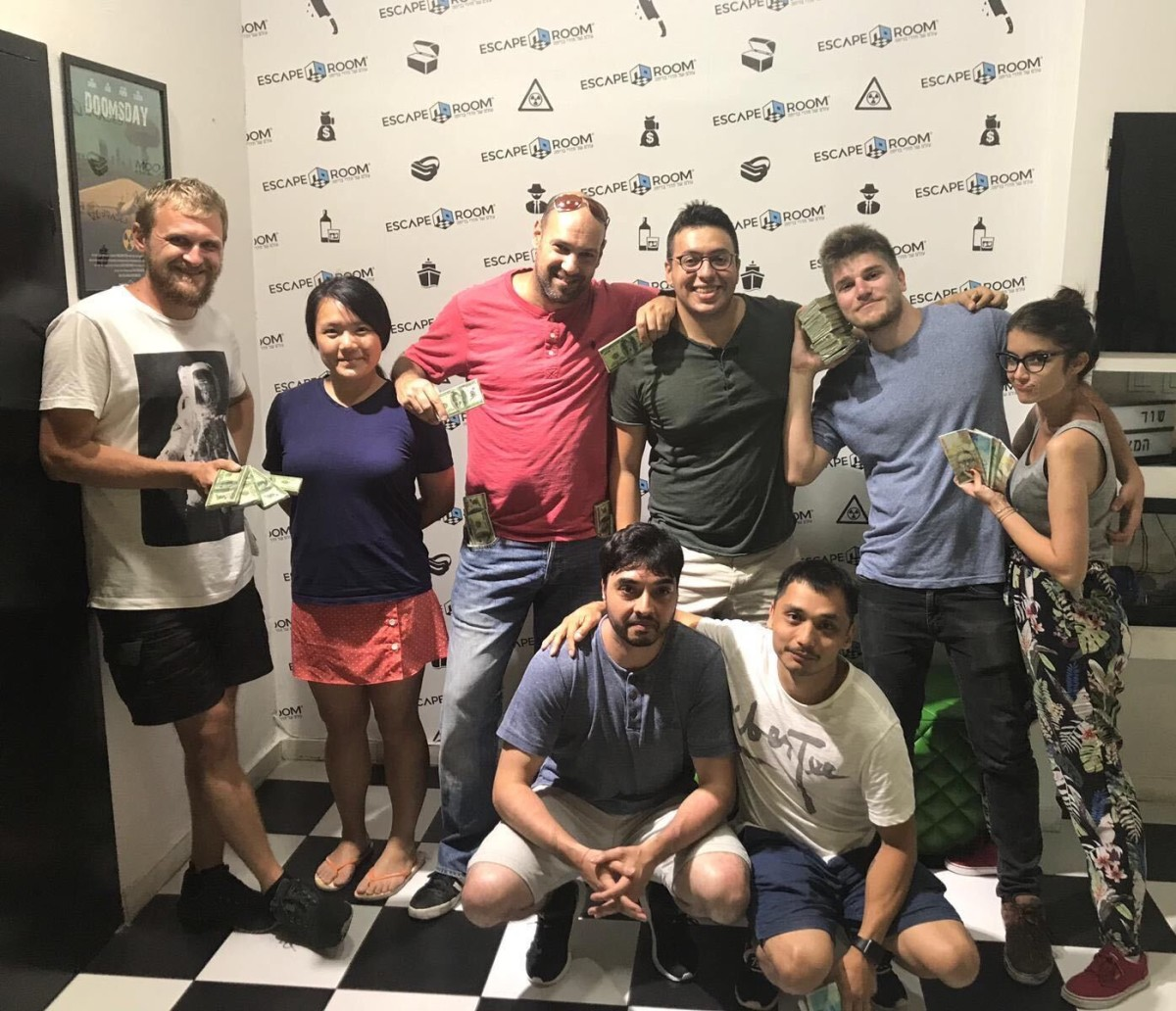 Figuring out an escape room in Tel Aviv