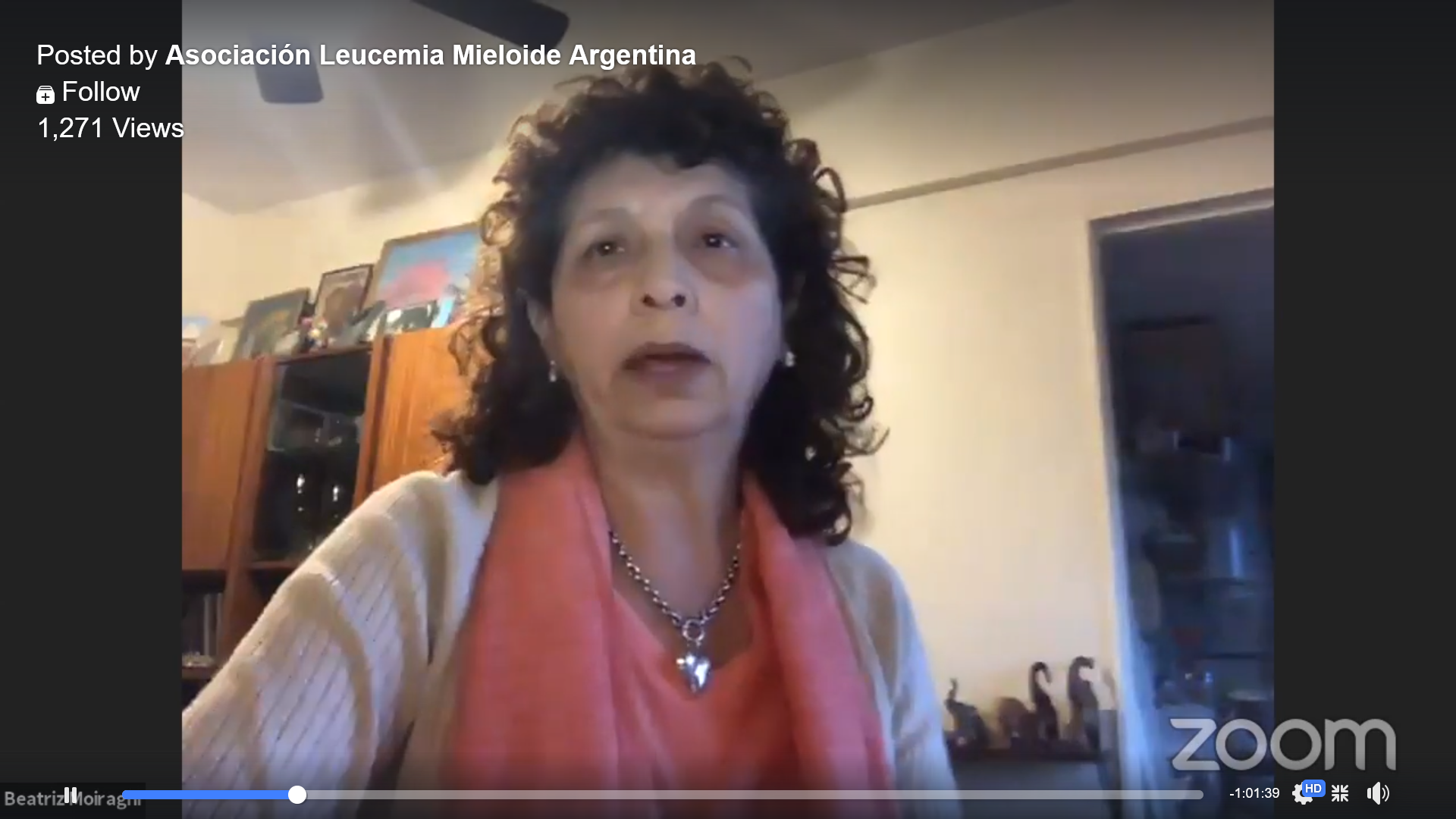 Webinar (in Spanish) from Argentina CML patient group ALMA