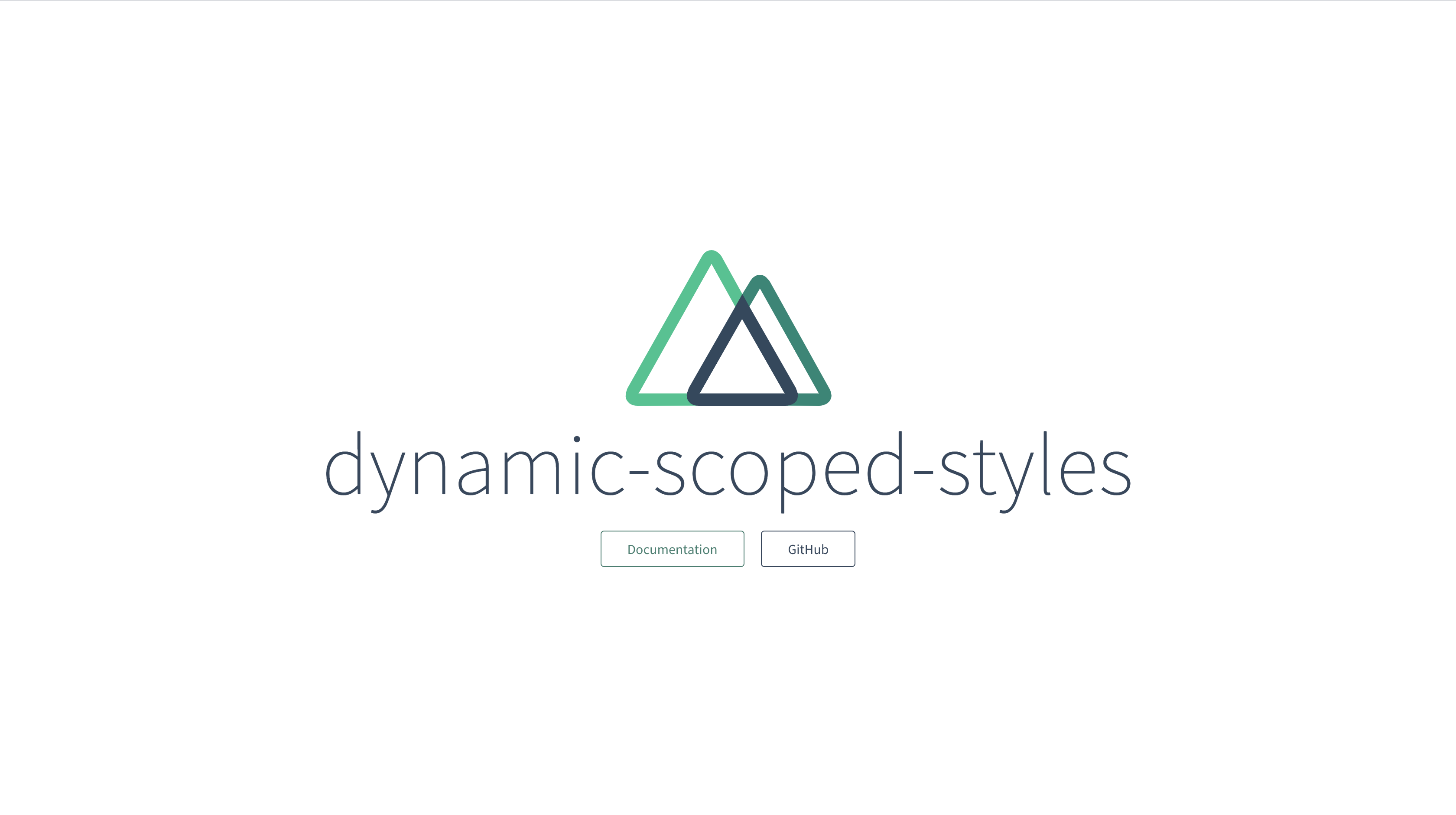 Dynamic scoped styles base project view