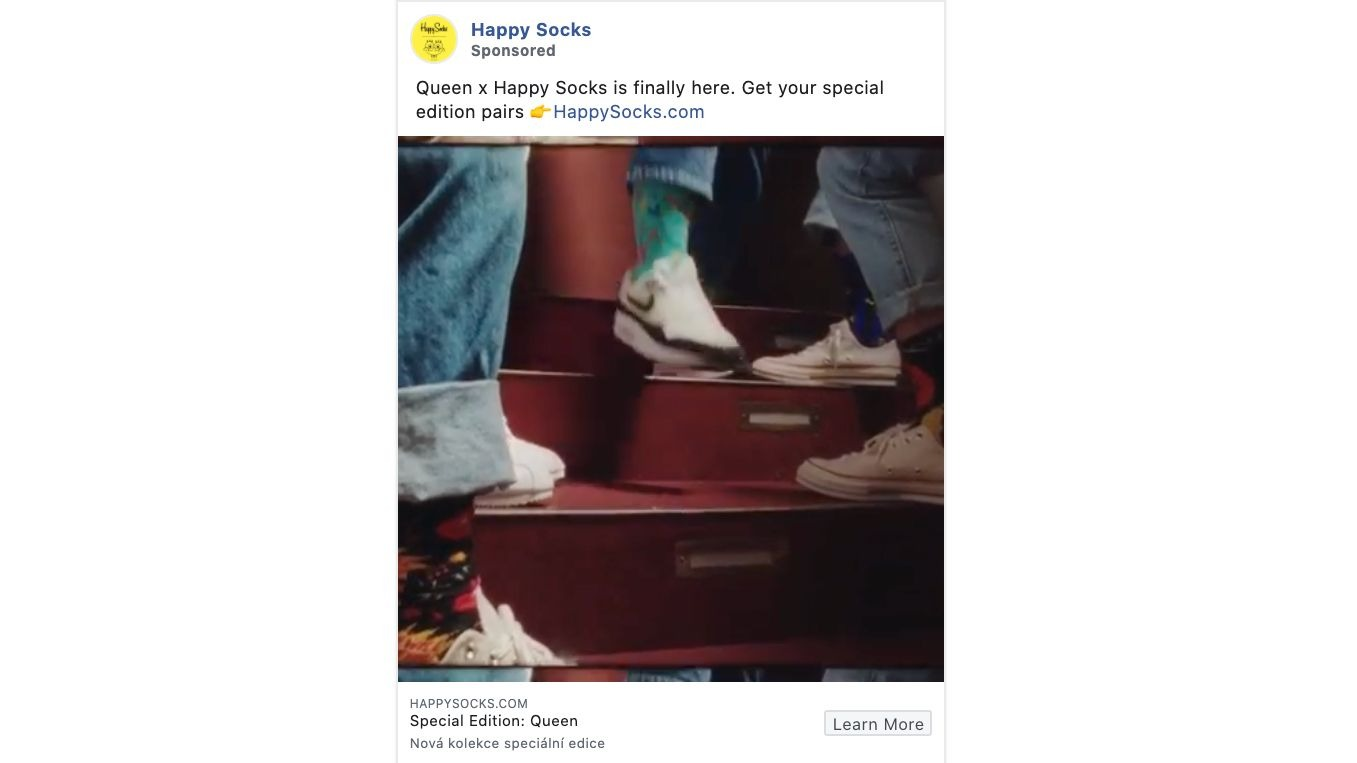 Happy Socks Instagram video ad example