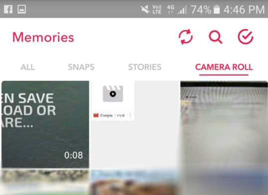 Snapchat your video