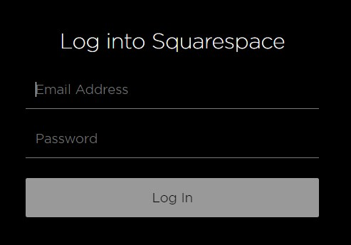 Squarespace login