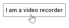 Squarespace video recording button