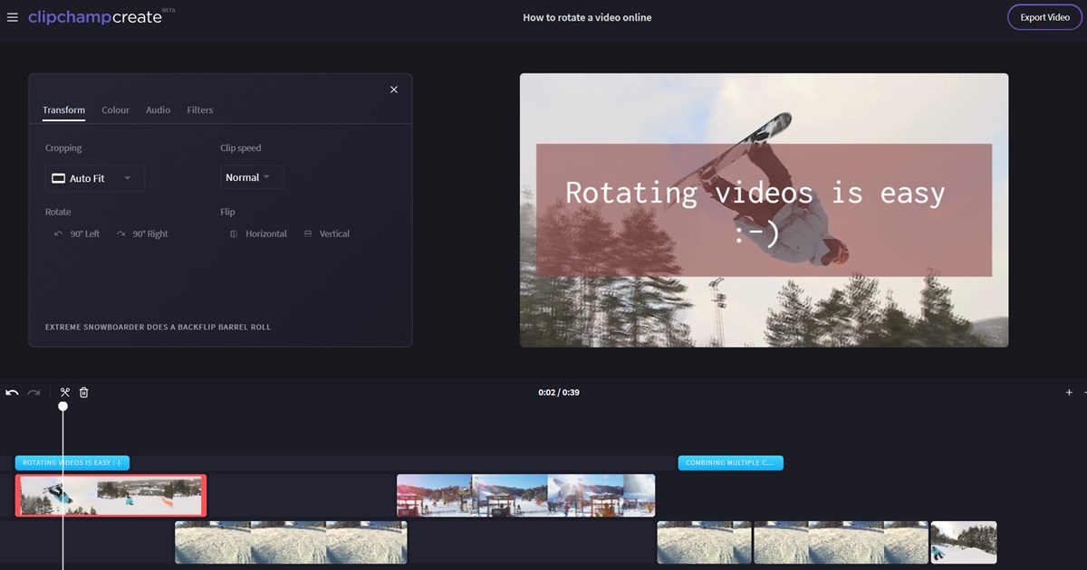 rotate video online for free