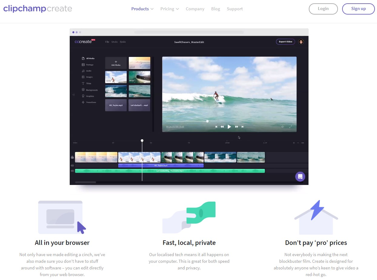 making video from photos software free online