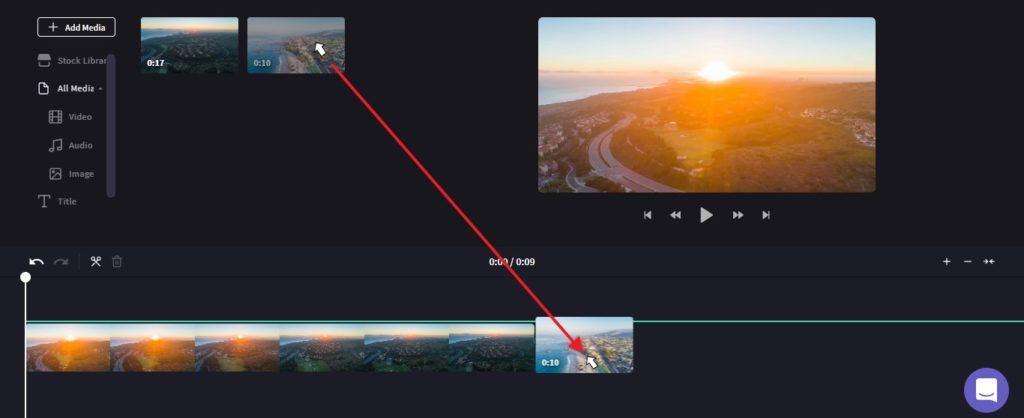 Add a video to combine in Clipchamp