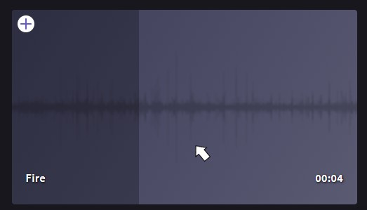 Previewing stock audio in Clipchamp