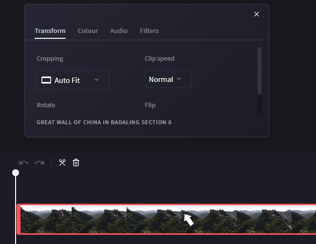 Select video to rotate