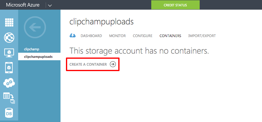 clipchamp video uploads to Azure