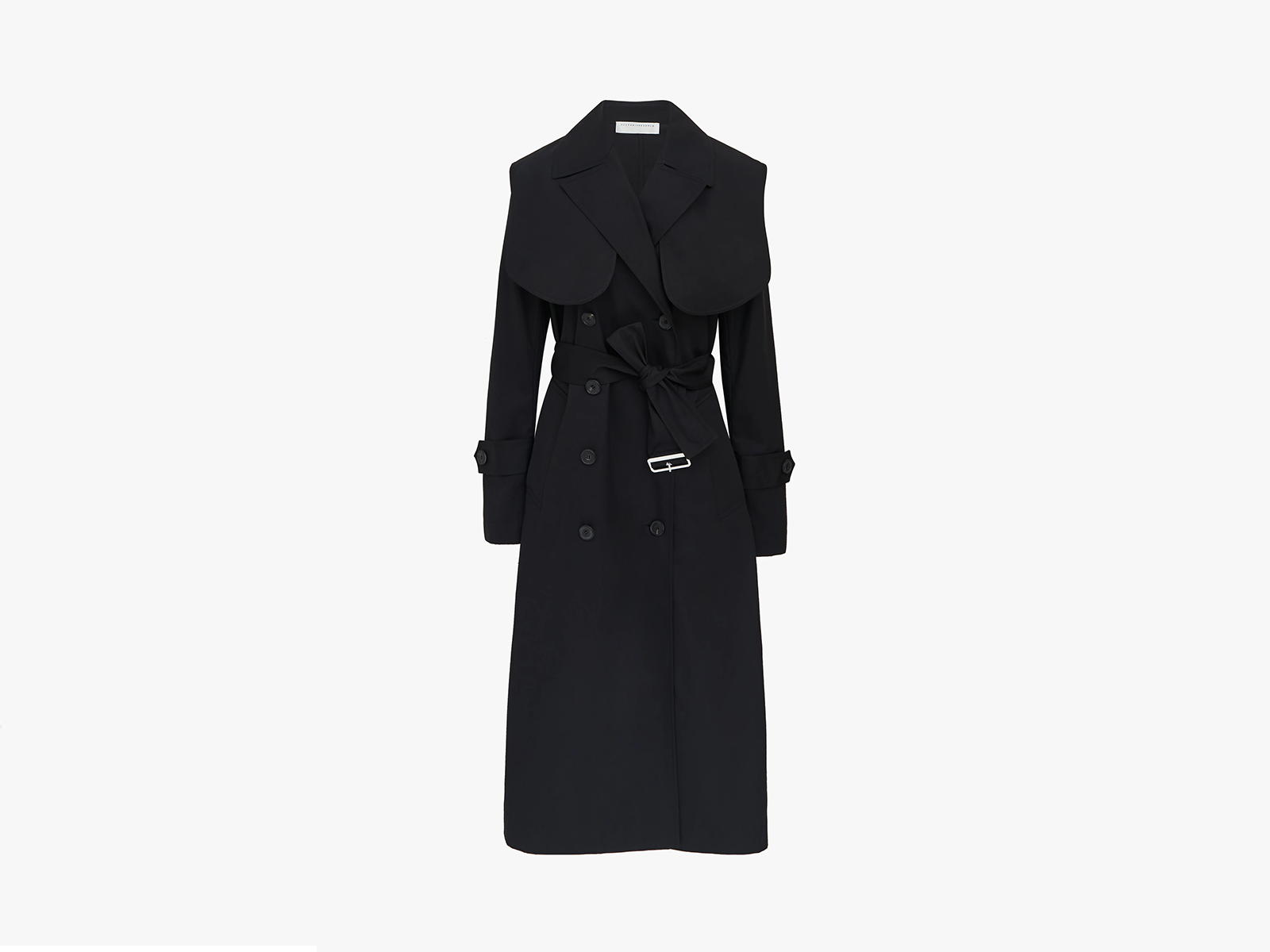 Victoria Beckham Classic Trench Coat In Black