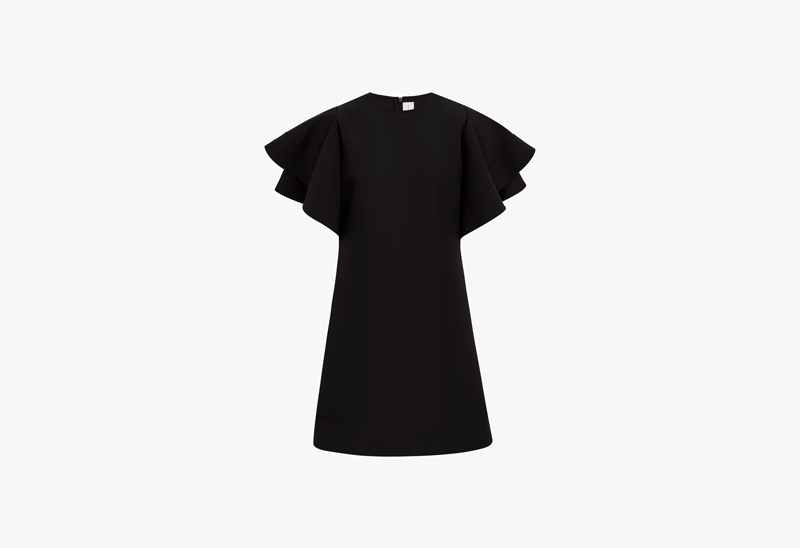 Victoria Victoria Beckham Ruffle Sleeve Dress