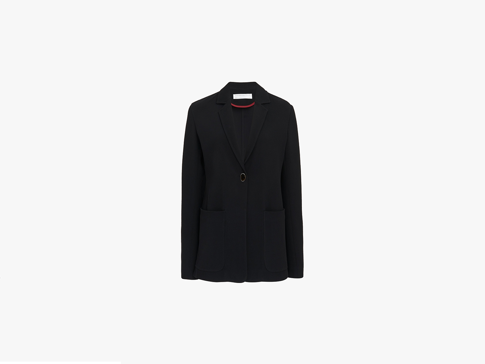 Victoria Beckham Single Breasted Soft Tailored Jacket In Black